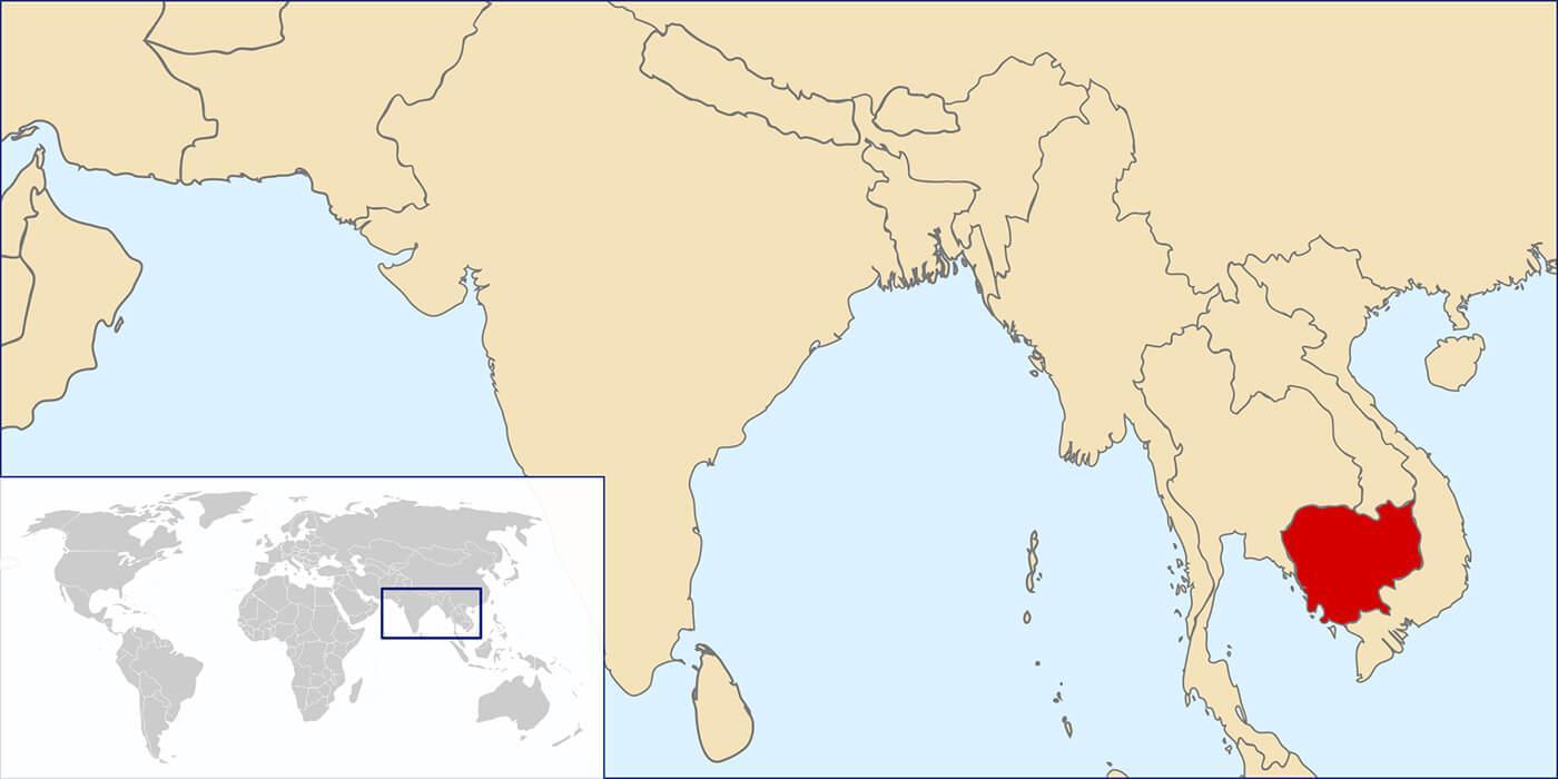 cambodge carte du monde