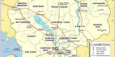 Carte du Cambodge route