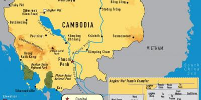 Angkor carte Cambodge